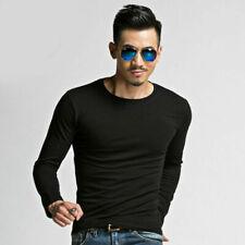 Fashion Men's Slim Fit Long Sleeve Tops T-shirts Shirt Blouse Casual Plus Size