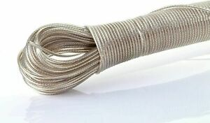 20 Metre STEEL CORE Washing Line Clothes Line STRONG Wire Long Lasting