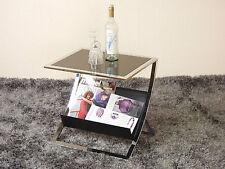 Beistelltisch schwarz Tisch Glastisch Couchtisch Glas Beitisch modern design neu