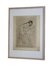 Armand Rassenfosse La Jeune Sorcière 1897 pointe sèche japon 45 x 31 cm estampe