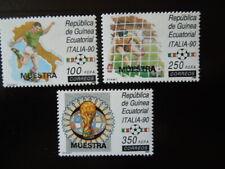 G879   Equatorial Guinea MUESTRA SPECIMEN 1990  WC  FOOTBALL ITALY SET  MNH