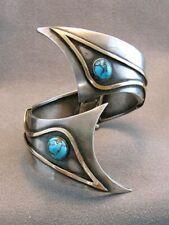 925 Silver Opening Turquoise Ring Women Man Vintage Wedding Engagement Open ring