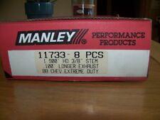 "Manley Heavy Duty Exhaust Valves #11733-8, 8pcs, BBC, 1.900"" HD 3/8"" Inconel"