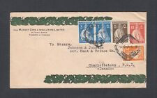 PORTUGAL 1931 MULTIPLE CERES ISSUES ON COVER TO CHARLOTTETOWN PEI CANADA