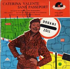 CATERINA VALENTE SANS PASSEPORT FRENCH ORIG EP DEDICACE