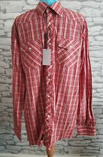 Mens Red Check Without Prejudice Shirt Size 17 the truth within xxl