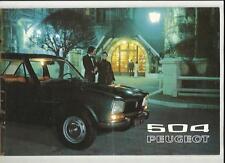 PEUGEOT 504 SALES BROCHURE 1972