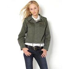 "ACHRO Women's 'US ARMY"" patch Dark Olive Green MILITARY JACKET medium new"