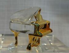 Swarovski Figurine, Memories, Piano, 173368, Mib W/Coa, Mini-Piano W/Gold Trim