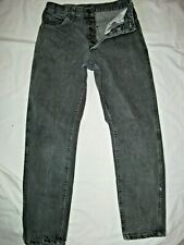 Mens Vintage Lee Riders Denim Gray Denim Jeans Tag 29 X 30 Button Fly Excellent