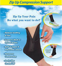 Ankle Brace Support Foot Compression Sleeve Ankle Splint Protector ZIP Up Wrap