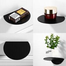 Stainless Steel Single-layer Storage Rack Bathroom Black Phone Shelf Soap Dish