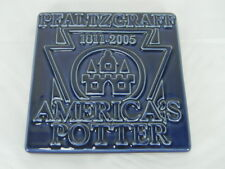"COBALT BLUE PFALTZGRAFF ADVERTISING TILE-2005-VERY RARE-4-1/2""-PRISTINE"
