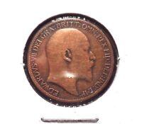 CIRCULATED 1909 1 FARTHING UK COIN!! (41615)