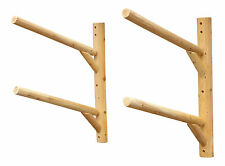 Log Kayak Rack 2-place Wall-mount Dark Oak