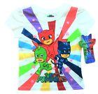 PJ MASKS OWLETTE GECKO CATBOY Short Sleeve Tee T-Shirt NWT Toddler's Size 2T 15
