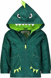 Carter's Boys Green Dinosaur Rainslicker Jacket Size 2T 3T 4T 4 5/6 7