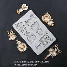 Relief Silicone Fondant Mould Sugarcraft Topper Baroque Cake Baking Vintage Mold