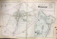ORIG 1903 ORANGE COUNTY NEW YORK  MONROE WEST POINT FT. CLINTON PLAT ATLAS MAP