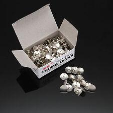 Silver 80pcs Pins Thumb Tacks Push Pins Office Supplies Thumbtack Nickel Metal