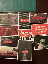 Lot Of 10 Supreme Skate Skateboard Sticker Laptop Cell Phone Decal A
