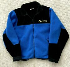 Mens KLIM blue/black Jacket  Polartec Fleece Medium Full Zip Snowmobile