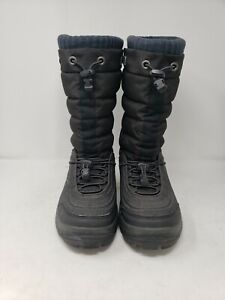 Helly Hanson Men's size 8 black Snow Boots After Ski Boots lined warm