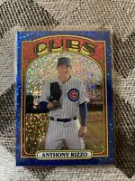 Topps Heritage 2021 Anthony Rizzo Blue Sparkle #175 Chicago CUBS