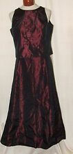 """Randy May Floral 2 Pc Lined Full Length Skirt Set Vest Top Sz 14 Dress 31""""W 41""""L"""