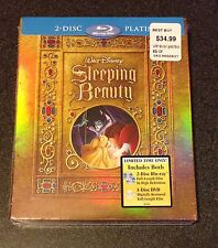 SLEEPING BEAUTY Blu-Ray SteelBook Best Buy Exclusive 3-Disc 2009 SlipCover Rare!