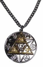 "The Legend Of Zelda TRI FORCE Natural Forces Necklace with 20"" Chain"