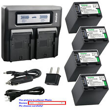 Kastar Battery Dual LCD Fast Charger for FV100 & Sony DCR-SX73 DCR-SX83 DCR-SX85
