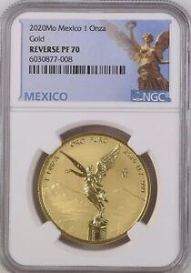 2020 MEXICO 1 OZ GOLD LIBERTAD ** REVERSE PROOF ** NGC PF70 TOP GRADE LOW POP 35
