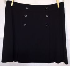 GORGEOUS BUTTON FRONT PLEATED SKATER SKIRT BLACK by ESCADA size 40 US size 10