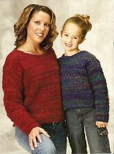 Cuddly & Classy Mom & Daughter Sweaters/ Crochet Pattern Instructions Only