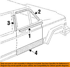 Jeep CHRYSLER OEM 88-01 Cherokee Front Door-Reveal Molding Right 55176194AB