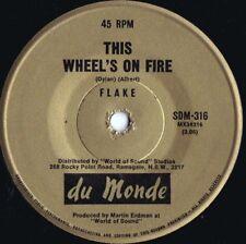 Flake ORIG OZ 1st 45 This wheels on fire VG+ '70 Du Monde SDM316 Prog Psyche