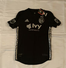 Mens Sporting Kansas City adidas Black 2018 Authentic Team Jersey Small NWT $120
