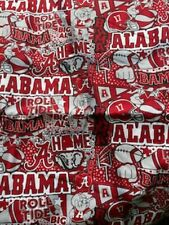 "Alabama Crimson Tide Pop Art Cotton Fabric 1/2 Yard x 44"" Wide Sykel"