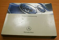 Origi Mercedes Benz Control Guide Betriebs Briefing E-Class W211 11/02