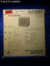 Sony Service Manual HST D207 Component System  (#1419)
