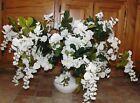 Memorial Day Wisteria Azalea Large White Vase Silk Flower Banquet Room Bouquet