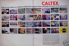 PUBLICITÉ HUILE CALTEX ANTI SLUDGE PROLONGE LA VIE DU MOTEUR