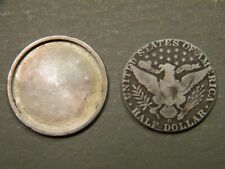 Excellent Vintage Us 1912 Barber Half Dollar/Large Cent Magic Coin