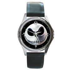 Jack Skellington Skeleton Nightmare Before Christmas LEATHER BAND WATCH GIFT