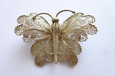 Wunderschöne seltene dekorative Brosche Silber filligraner Schmetterling