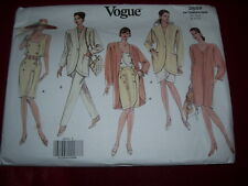 VOGUE #2659-LADIES DOUBLE BREASTED DRESS & SKIRT - JACKET & PANTS PATTERN 8-12FF