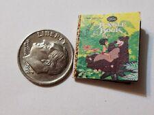 Miniature Book Disney Movie Barbie 1/12 Scale   Jungle Book Mogli Balou Tiger