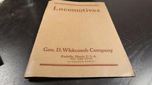 George D Whitcomb Company Locomotives Folder 1920s 30s