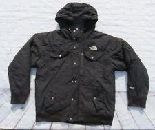 Mens NORTH FACE Black Hooded Goose Down Zip GOTHAM Jacket Coat Parka Large $300